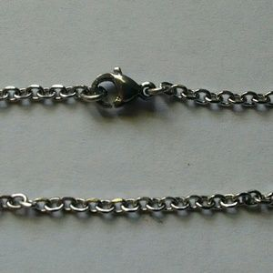 """Stainless steel oval link 26"""" chain, 2mm"""